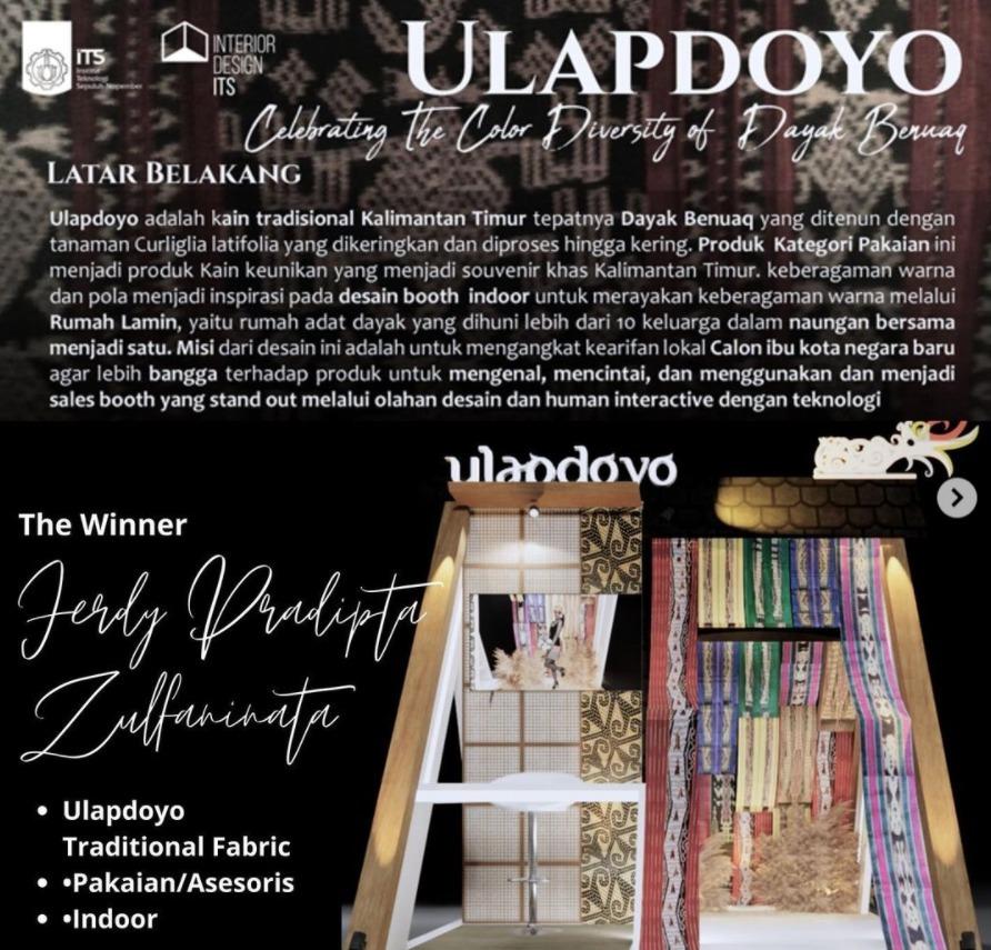 Ulapdoyo Booth Design, karya mahasiswa ITS yang berahsil raih juara 1 pada Sales Booth Design Competition 2021