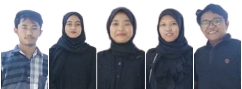 (dari kiri) M Yosi Kurniawan, Seren Fegrita Septia Karya, Linaniyyatul Masruroh, Asalina Putri Agung Shaliha, dan Adik Roni Setiawan