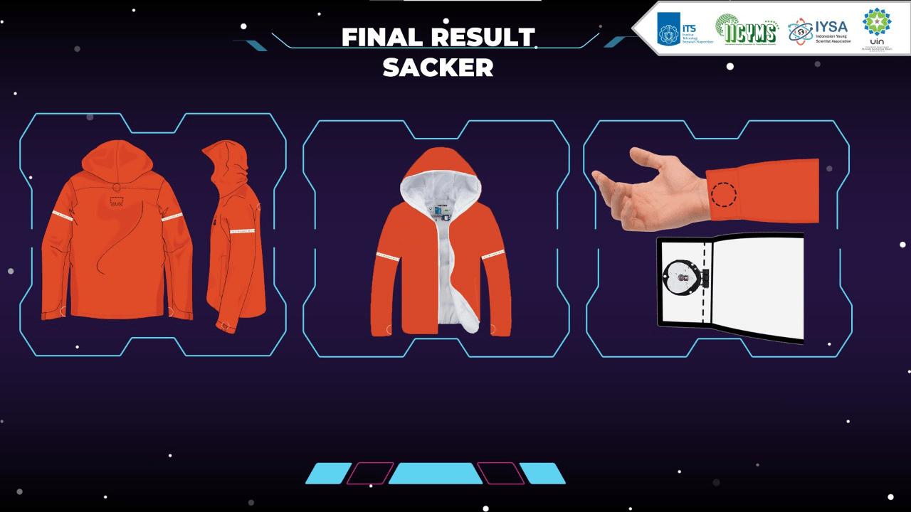 Desain prototype Smart Jacket for Hiker (SACKER) karya mahasiswa ITS
