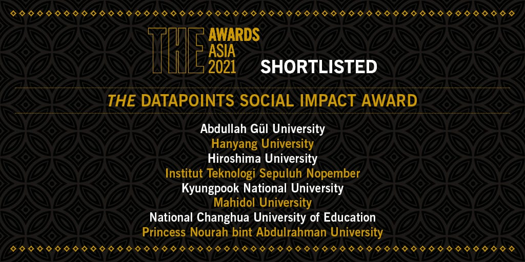 ITS is the only university in Indonesia that was nominated for THE DataPoints Social Impact Awards