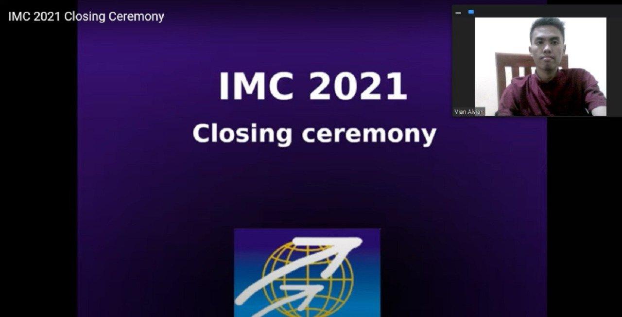 Alvian Alif Hidayatullah saat mengikuti acara penutupan IMC 2021 yang ditayangkan secara daring