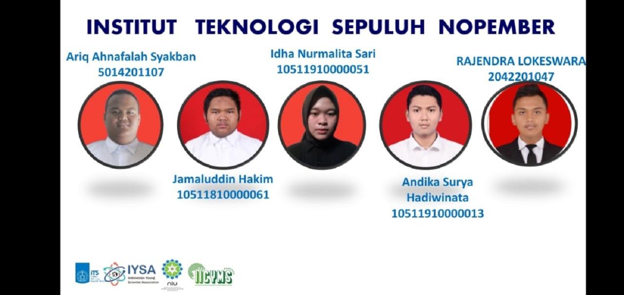 Anggota tim IMM AWAN ITS yang berlaga di ajang international Invention Competition for Young Moslem Scientists (IICYMS) 2021