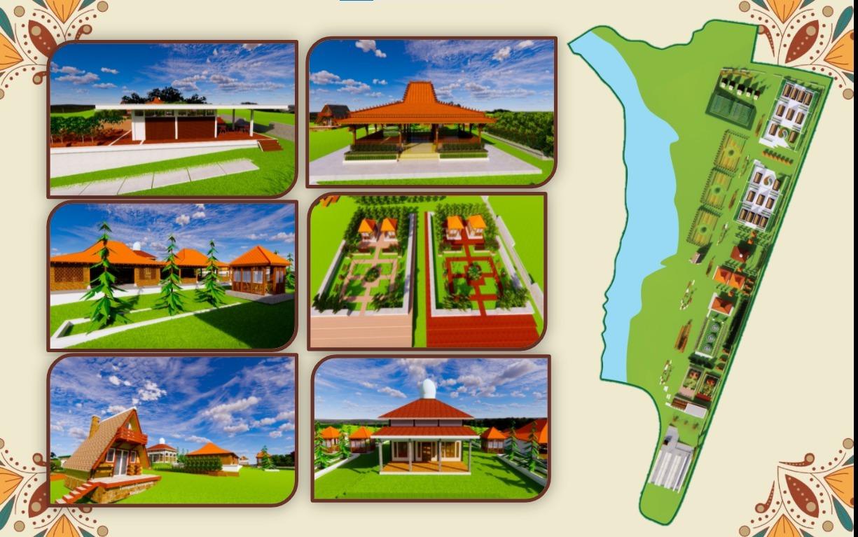 Gambaran KonsepPengembangan Desa Banjararum sebagai Agrowisata Berkelanjutan karya Tim DK-01 PWK ITS