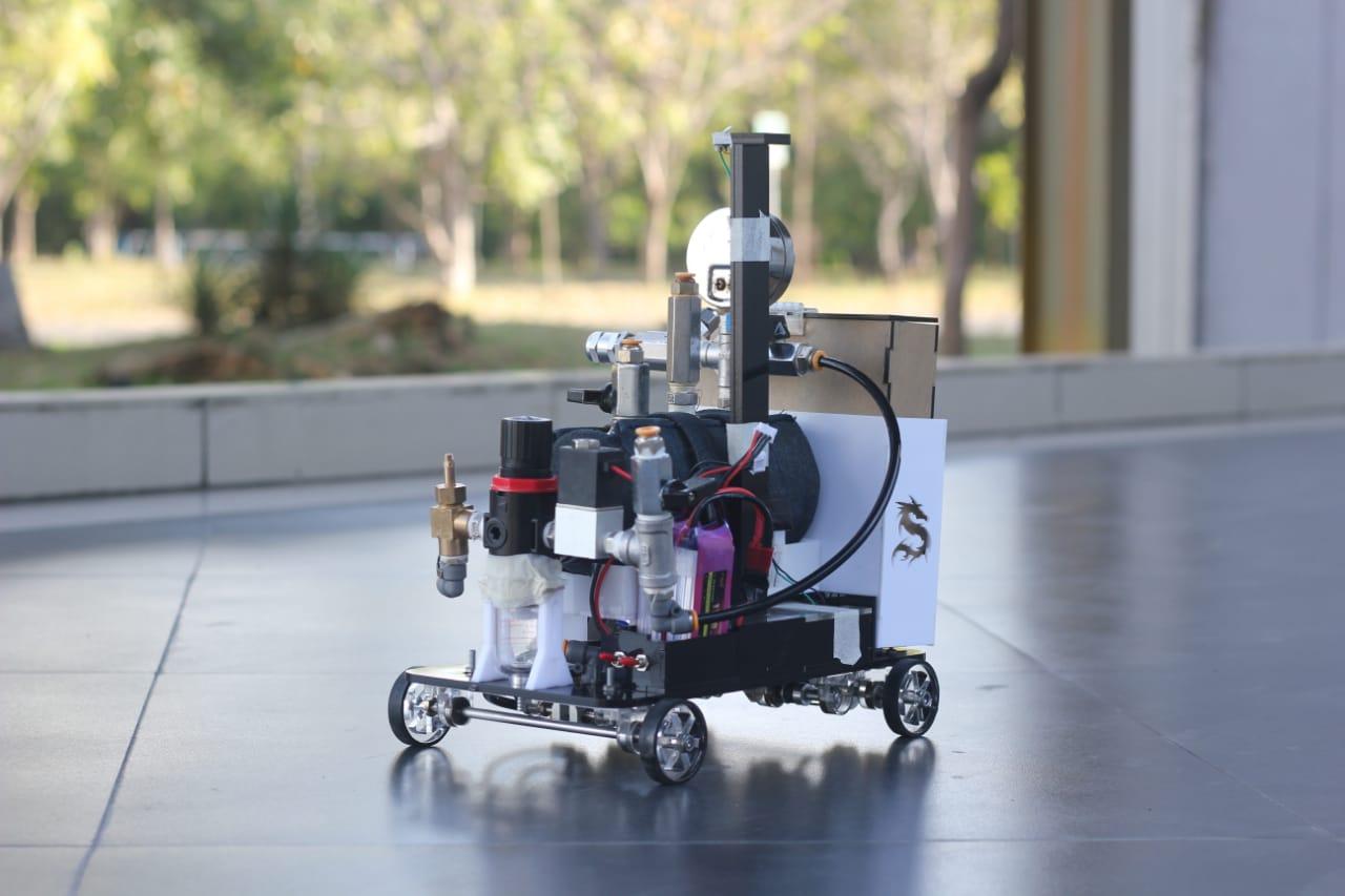 Prototype mobil kebanggaan Tim Spektronics ITS yang digerakkan dengan adanya tekanan yang dihasilkan dari gas