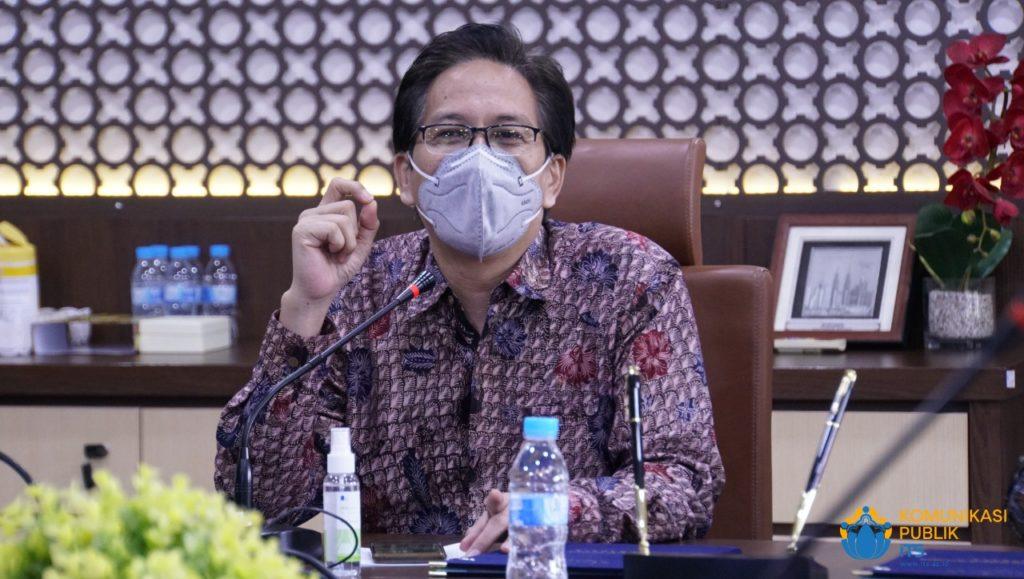Rektor ITS Prof Dr Ir Mochamad Ashari MEng memberikan sambutannya dalam acara penandatanganan MoU dengan BPS Jawa Timur