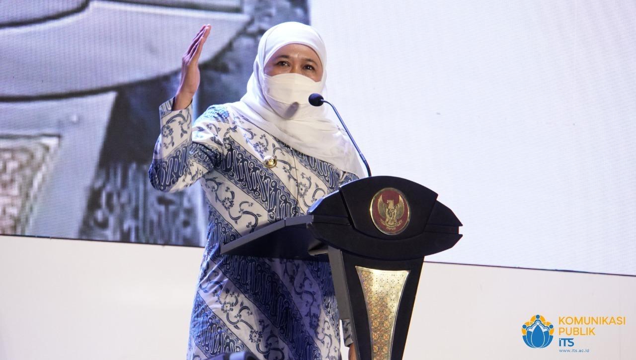 Gubernur Jatim Khofifah Indar Parawansa turut hadir memberikan dukungan peresmian ITS 5G Experience Center