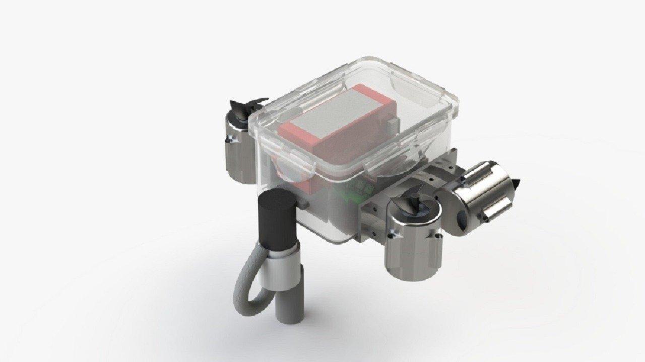 Tampilan 3D desain robot Sea Wasp dari Tim Banyubramanta ITS