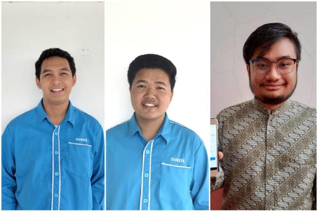 (dari kiri) Mohamad Qutbudin Annauvali, Shodiqul Rizal Al Aziz, dan Faizal Putra Budimas yang merupakan mahasiswa Departemen Teknik Sistem dan Industri ITS dari Tim Chainers2627