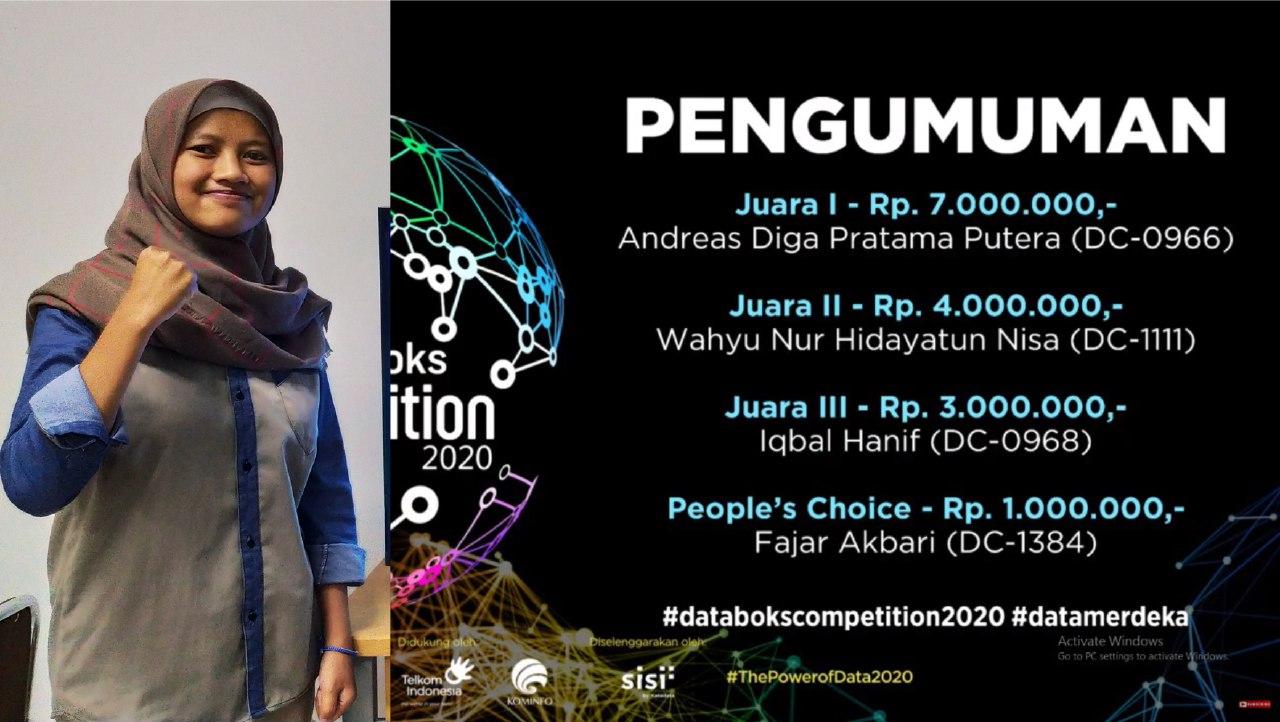 Wahyu Nur Hidayatun Nisa berhasil meraih Juara 2 Databoks Competition
