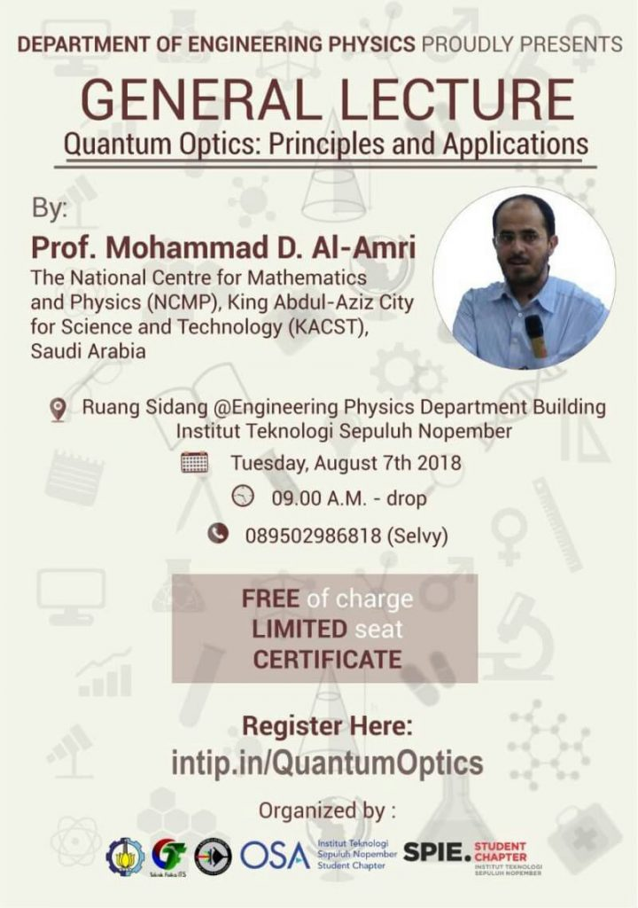 General Lecture of Quantum Optics