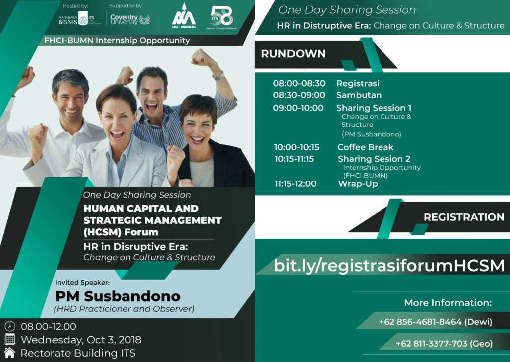 Human Capital and Strategic Management Forum – ITS Business Management