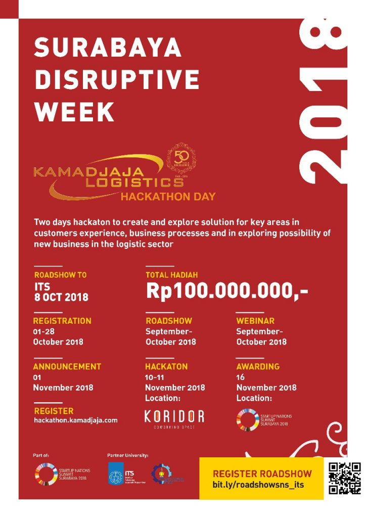 Surabaya Disruptive Week 2018 Roadshow at ITS