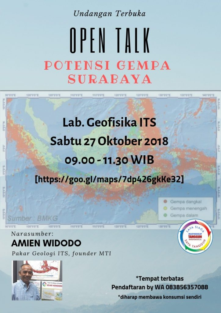 Open Talk on Earthquake Potential in Surabaya