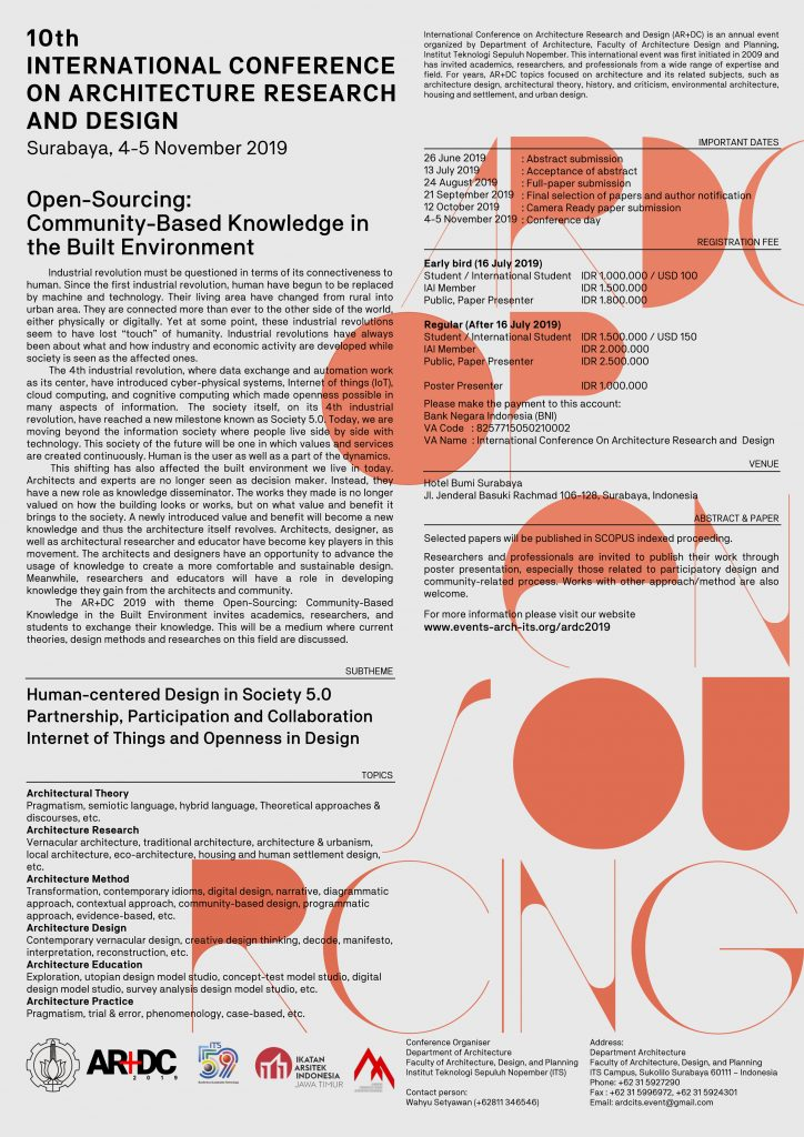 10th International Conference on Architecture Research and Design