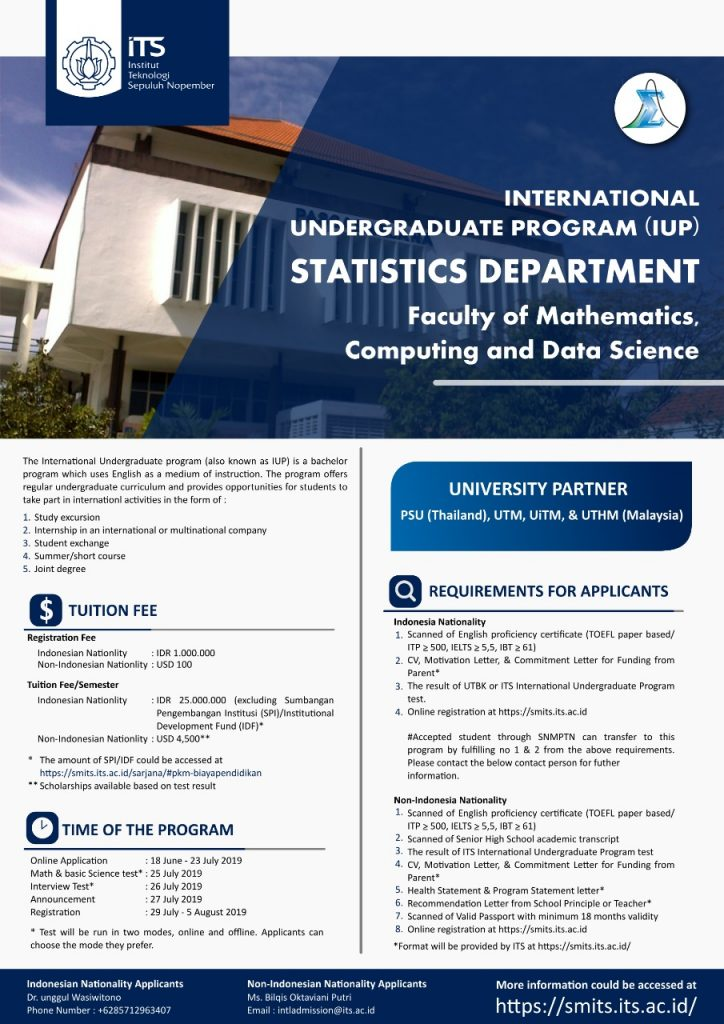 International Undergraduate Program – Statistics Department