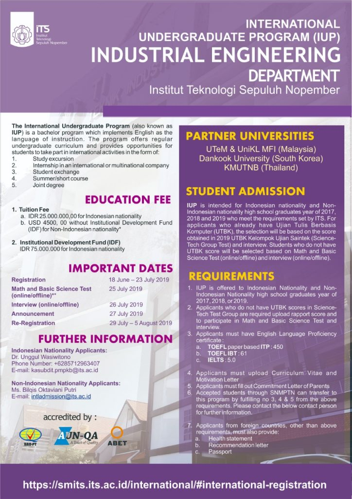 International Undergraduate Program – Industrial Engineering