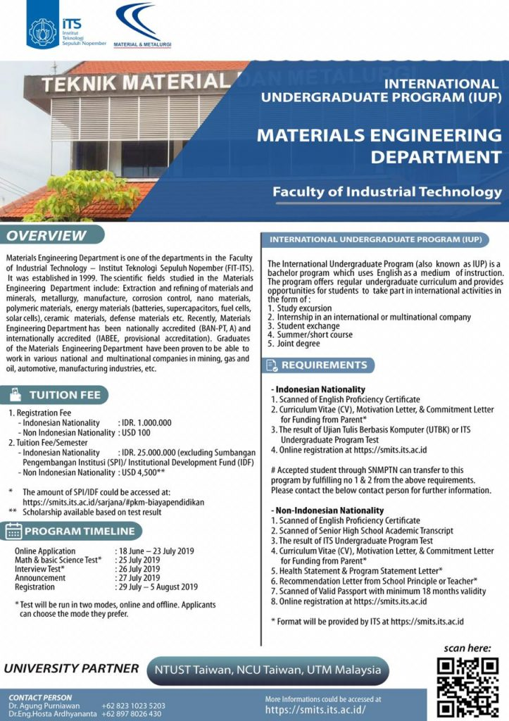 International Undergraduate Program – Materials Engineering