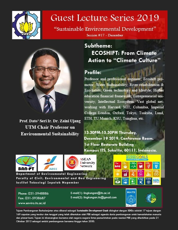 "Guest Lecture Series 2019   : ""Sustainable  Environmental  Development """