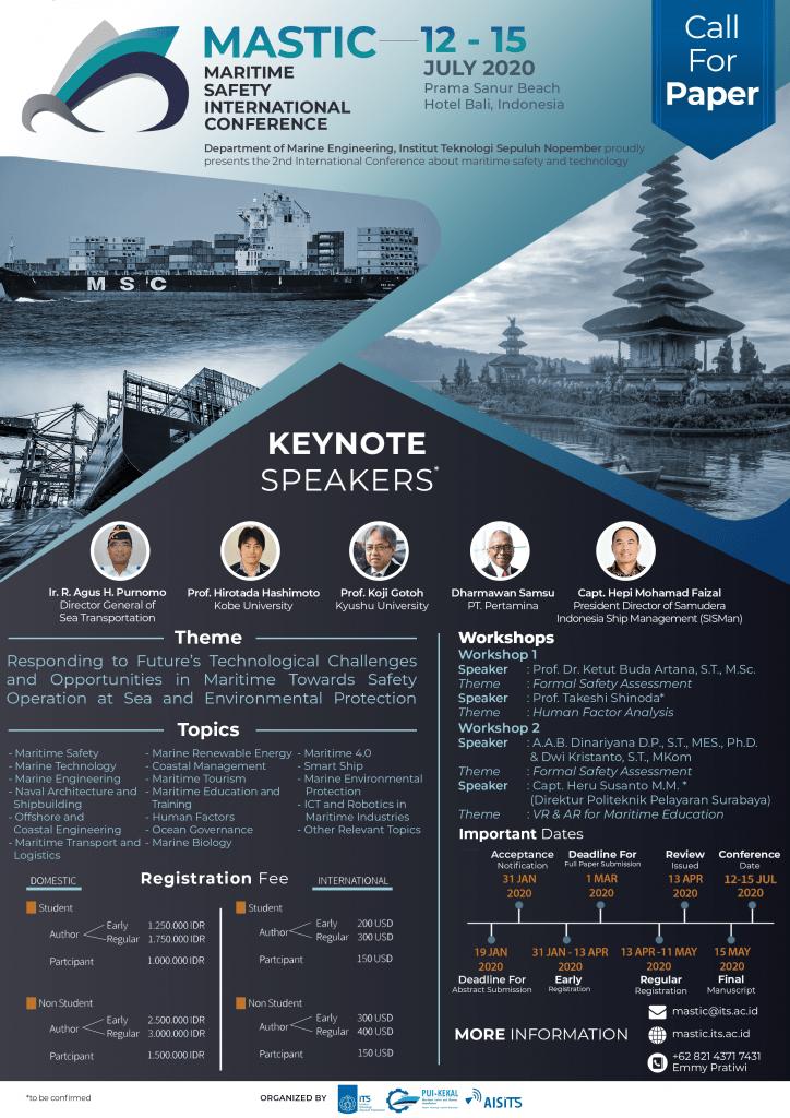 MASTIC (Maritime Safety International Conference) 2020
