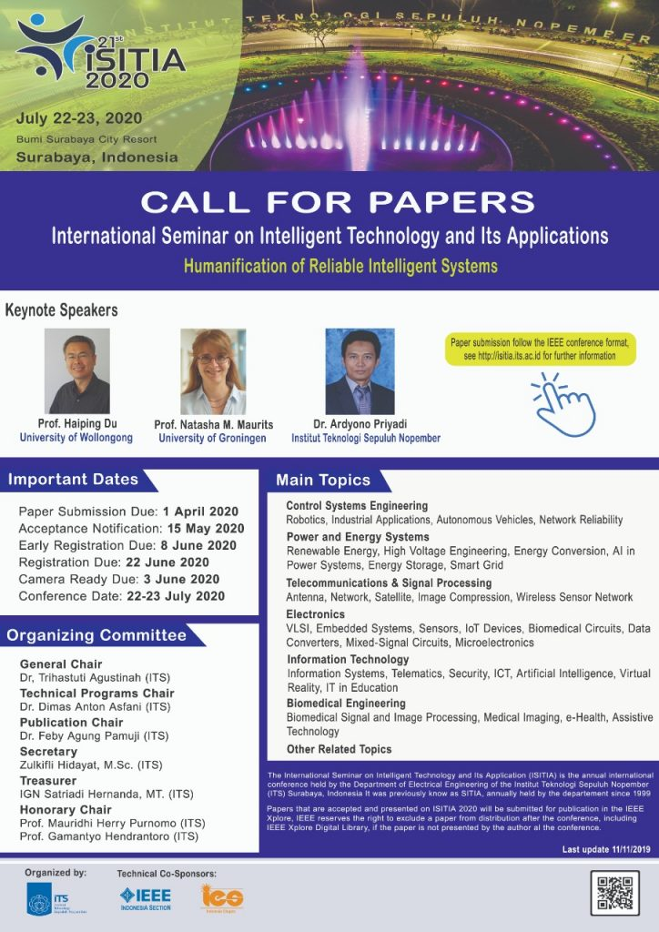 International Seminar on Intelligent Technology and Its Application