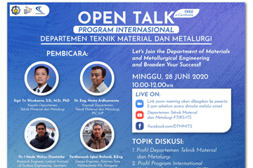 Open Talk : Material and Metallurgical Engineering Department