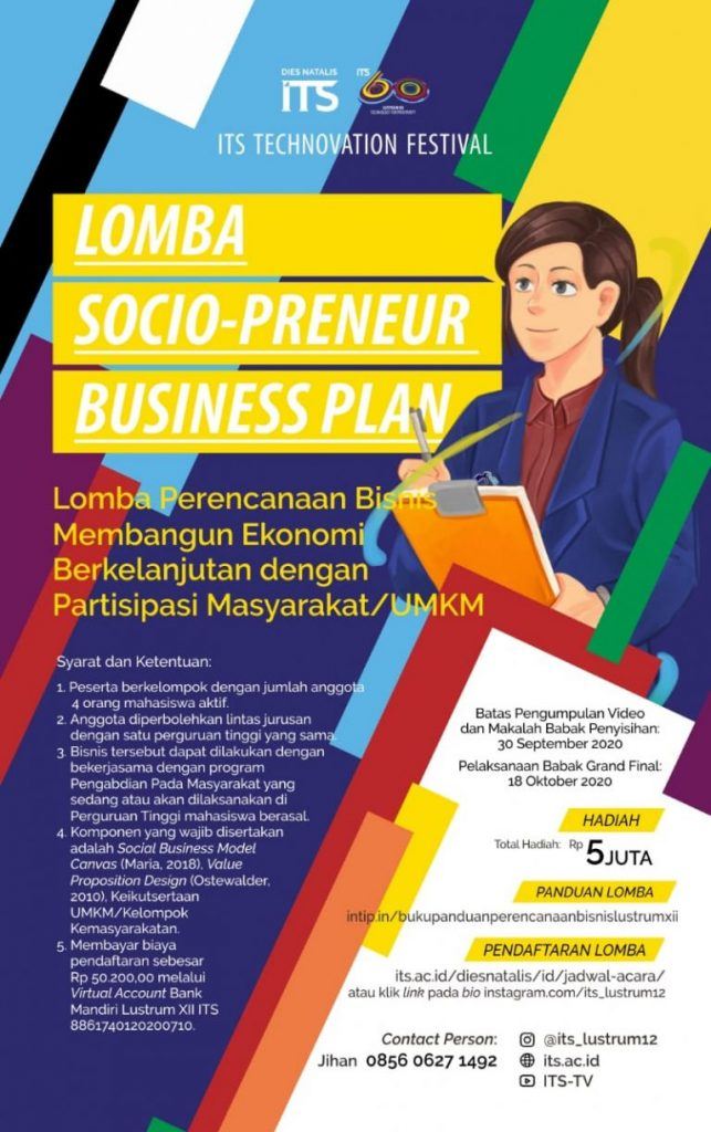 Lustrum ITS : Socio-preneur Business Plan