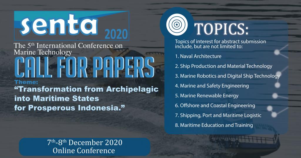SENTA 2020 : International Conference on Marine Technology