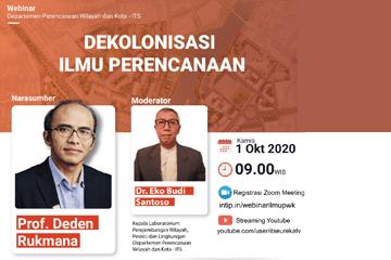 Webinar : Department of Urban and Regional Planning