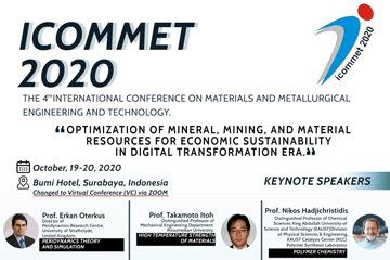 ICOMMET 2020 : Departement of Materials and Metallurgical Engineering