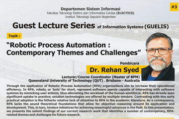 WEBINAR : GUEST LECTURE SERIES OF INFORMATION SYSTEMS PART 3