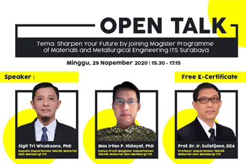 Open Talk : Department of Materials and Metallurgical Engineering