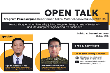 Open Talk : Department of Materials and Metallurgical Engineering Series 3