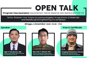 Open Talk : Department of Materials and Metallurgical Engineering Series 2