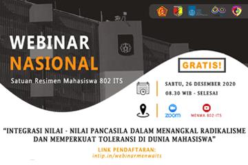 Webinar Nasional : The Student Regiment 802 ITS
