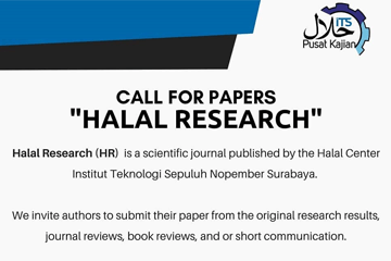 Call for Papers : Halal Research