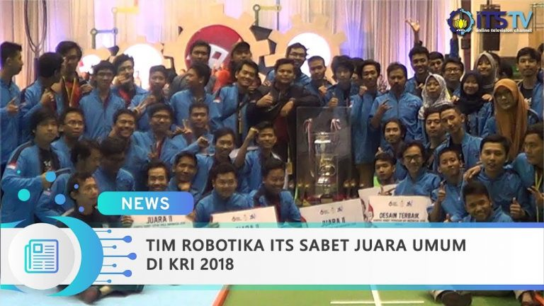 ITS Robotics Team Won the Overall Champion in Indonesia Robot Contest 2018
