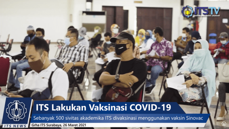 After the UTBK Committee, ITS Conducted Vaccinations for 500 of its Academic Civitas